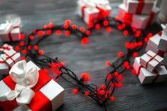 Concept de carte de voeux de jour de valentines Photos stock