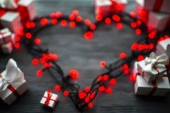 Concept de carte de voeux de jour de valentines Photographie stock
