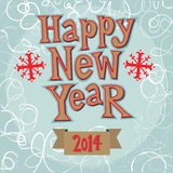Concept de carte de voeux de nouvelle année. Image libre de droits