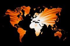 concept de carte du monde 3D illustration de vecteur