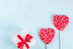 Concept de carte de voeux de jour du ` s de Valentine Image libre de droits