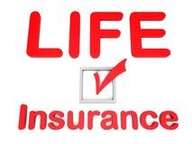 Concept de case à cocher d'assurance-vie Photo stock