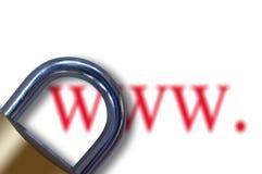 Concept de censure d'Internet Image stock