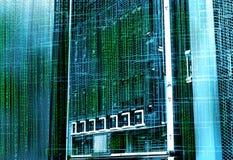Concept de centre de traitement des données de mémoire à disque Technologie et base de données de l'information sur le fond techn photos stock