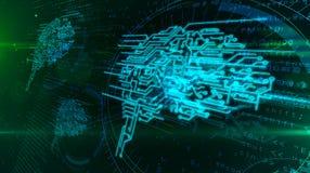 Concept de cerveau de Cyber illustration stock