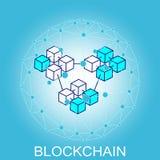 Concept de chaîne de bloc Connexion réseau abstraite illustration de vecteur