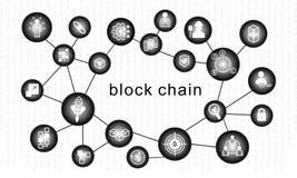 Concept de chaîne de bloc Connexion réseau abstraite illustration libre de droits