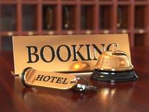 Concept de chambre d'hôtel de réservation photo stock