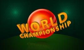Concept de championnat du monde avec la boule brillante rouge Images libres de droits