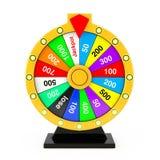 Concept de chance et de fortune Roue colorée de rotation de fortune 3d au sujet de Photographie stock libre de droits