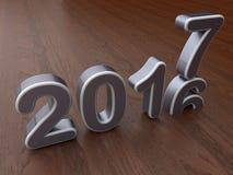 concept de changement de 2017 ans Image stock