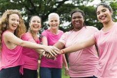 Concept de charité de soutien de cancer du sein de femmes Images stock