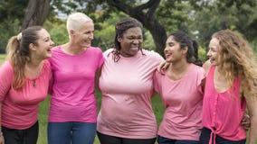 Concept de charité de soutien de cancer du sein de femmes Photo libre de droits