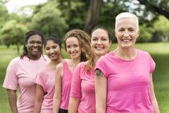 Concept de charité de soutien de cancer du sein de femmes Image stock