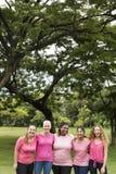 Concept de charité de soutien de cancer du sein de femmes Images libres de droits
