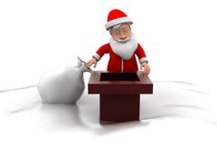 concept de cheminée de 3d Santa Images stock
