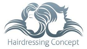 Concept de cheveux d'homme et de femme illustration libre de droits
