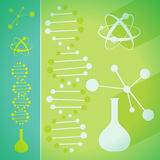 Concept de chimie et de bio science de technologie illustration de vecteur