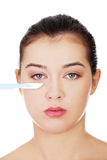Concept de chirurgie esthétique. Image stock