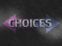 Concept de choix Photo stock