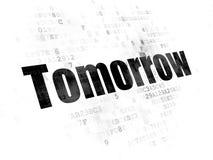 Concept de chronologie : Demain sur le fond de Digital Photographie stock