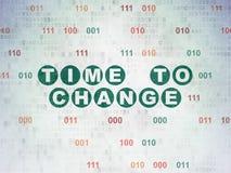 Concept de chronologie : Heure de changer sur le papier de Digital Photographie stock libre de droits