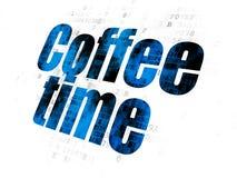 Concept de chronologie : Temps de café sur le fond de Digital Photo libre de droits