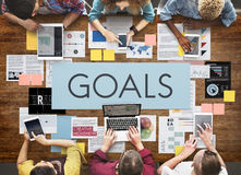 Concept de cible de mission d'inspiration d'aspirations de buts photographie stock