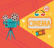 Concept de cinéma, vecteur Photo stock