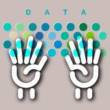 Concept de clavier de saisie de données Images libres de droits