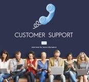 Concept de client de conseil d'aide d'Assistnace de support à la clientèle Photo libre de droits