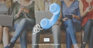 Concept de client de correspondance d'aide de contactez-nous Images libres de droits