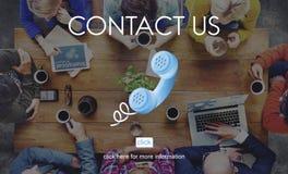 Concept de client de correspondance d'aide de contactez-nous images stock