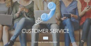Concept de client du consommateur de soin de service de support à la clientèle Images libres de droits