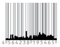 concept de code barres urbain illustration stock