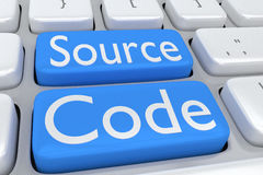 Concept de code source Photo libre de droits