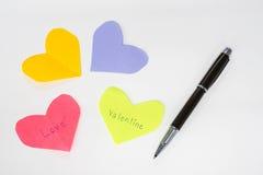 Concept de coeur et d'amour pour Valentine Photographie stock libre de droits