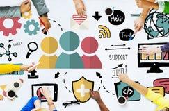 Concept de collaboration de Team Support Care Help Trust Photographie stock libre de droits
