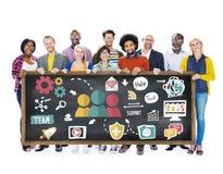 Concept de collaboration de Team Support Care Help Trust Photographie stock