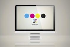 Concept de coloration de mélange de couleur de mélange illustration stock