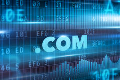 Concept de COM de point Image stock