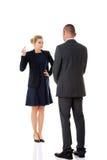 Concept de combat d'affaires Les gens d'affaires ont le conflit photos libres de droits