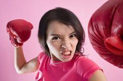 Concept de combat de femme photographie stock libre de droits