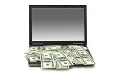 Concept de commerce électronique avec des dollars Image stock
