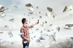 Concept de commerce électronique de transfert de monnaie de banque en ligne de technologie Photo stock