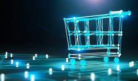 Concept de commerce électronique et d'achats en ligne photo libre de droits