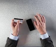 Concept de commerce électronique ou de m-commerce d'entreprise, vue supérieure Photo libre de droits