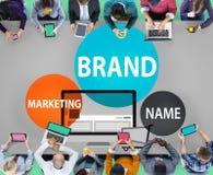Concept de commerce de vente de publicité de marquage à chaud de marque Image stock