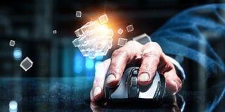 Concept de commerce en ligne et de mise en réseau Image stock