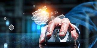 Concept de commerce en ligne et de mise en réseau Image libre de droits